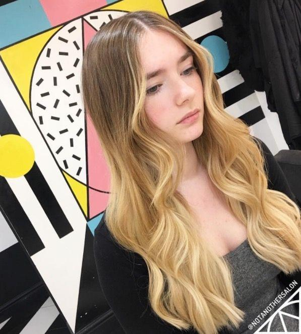 """**Ombre Hair: Buttery blonde** <br><br> The warm tone of this buttery, ombre blonde is *oh-so* flattering. <br><br> (via [@notanothersalon](https://www.instagram.com/notanothersalon/