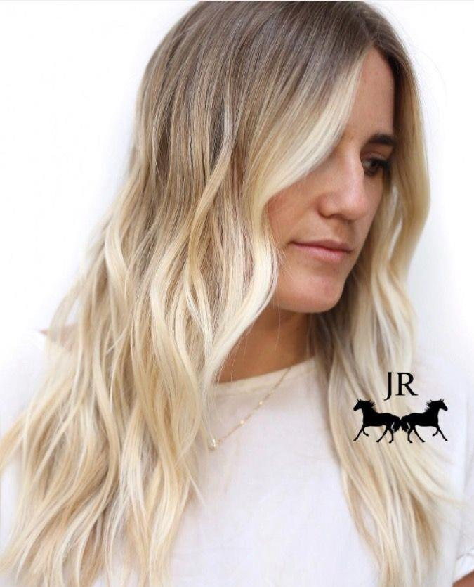 """**Ombre Hair: Platinum Waves** <br><br> The best thing about ombre hair? You can go *bright* blonde without having to keep on top of the roots... Perfect for lazy girls (aka, all of us). <br><br> (via [@johnnyramirez1](https://www.instagram.com/johnnyramirez1/
