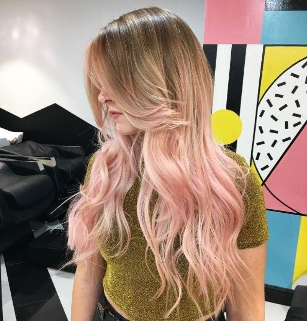 """**Ombre Hair: Blush balayage** <br><br> Rose-tinted strands are all the rage come festival season... Opt for an ombre finish if *all-over* pastel, seems a little scary. <br><br> (via [@notanothersalon](https://www.instagram.com/notanothersalon/