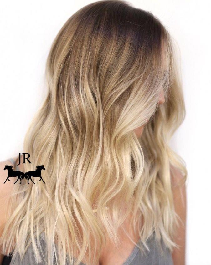 """**Ombre Hair: Creamy blonde** <br><br> Dip dye hair doesn't have to be crazy colourful... A sun-kissed blonde balayage will give a natural-looking ombre effect. <br><br> (via [@johnnyramirez1](https://www.instagram.com/johnnyramirez1/