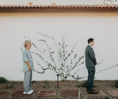 "This Bride's ""First Look"" Wedding Photo Pyjama Prank Is the Stuff of Legends"