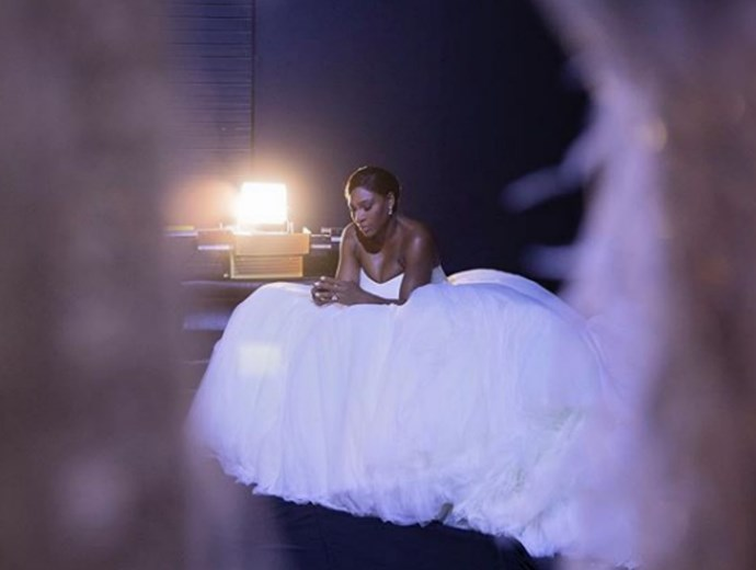 Serena Williams wore three incredible designer dresses on her wedding day