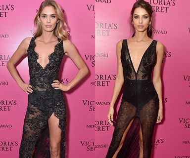 9 Victoria's Secret model pairs who practically wore the same dress to the VSFS after party