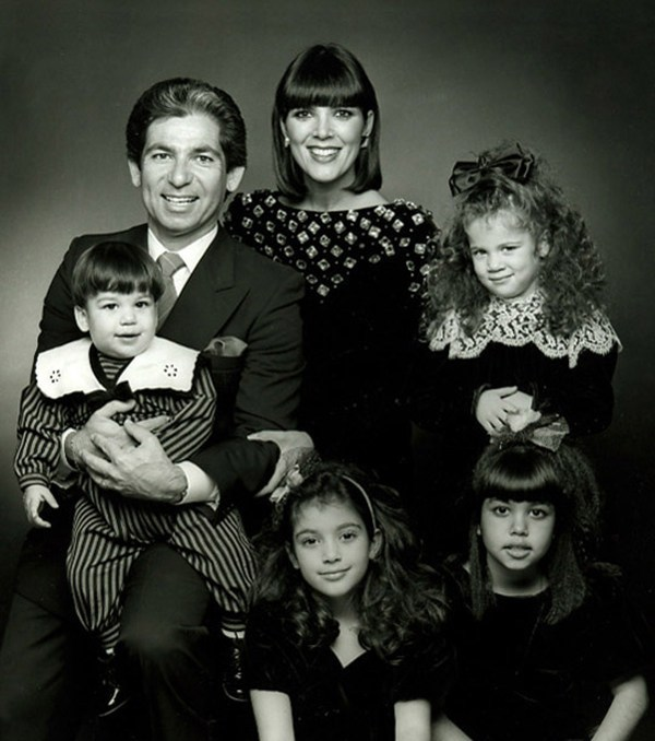 This was clearly the year that the family decided to go all pro with their Christmas card. Both mum and dad (Robert Kardashian and Kris Jenner) are pictured and little baby Rob makes it into his first Xmas card with a jolly romper style.