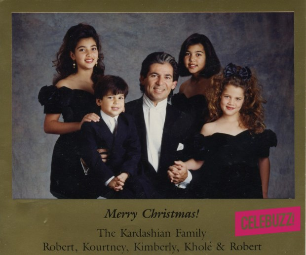 After Kris and Robert's divorce in the late 1980s, Poppa Kardashian decided to send a Christmas card of his own featuring him and the kids.