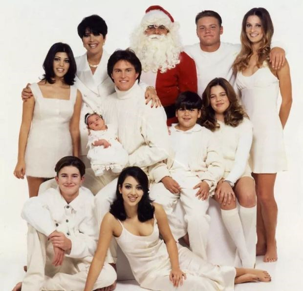 Santa's back And newborn baby Kendall Jenner is taking centre stage. Though we seem to have lost some Jenners along the way...