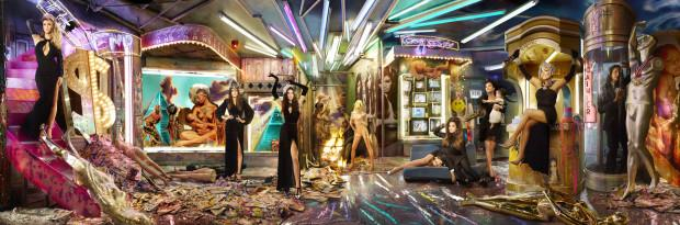 Perhaps the most avant-garde set up in Christmas card history, the Kardashians roped in David LaChappelle to imagine up this weird world of amusement parks, stuffed to the brim with strange symbolism. Lamar was cut from this picture, as his marriage to Khloé was well and truly on the rocks by then. Scott was also cut out from the picture, but was still with Kourtney at the time, as Reign was conceived after this shoot. Bruce made the cut for this one, but he is awkwardly stuffed into a tube. It wasn't too long after this that he and Kris went their separate ways and he made his transition into Caitlyn Jenner.