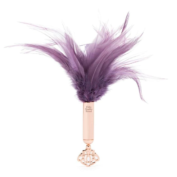"Fifty Shades Freed Cherished Collection Feather Tickler, $69.95 from [Lovehoney](https://www.lovehoney.com.au/product.cfm?p=37413|target=""_blank"")."