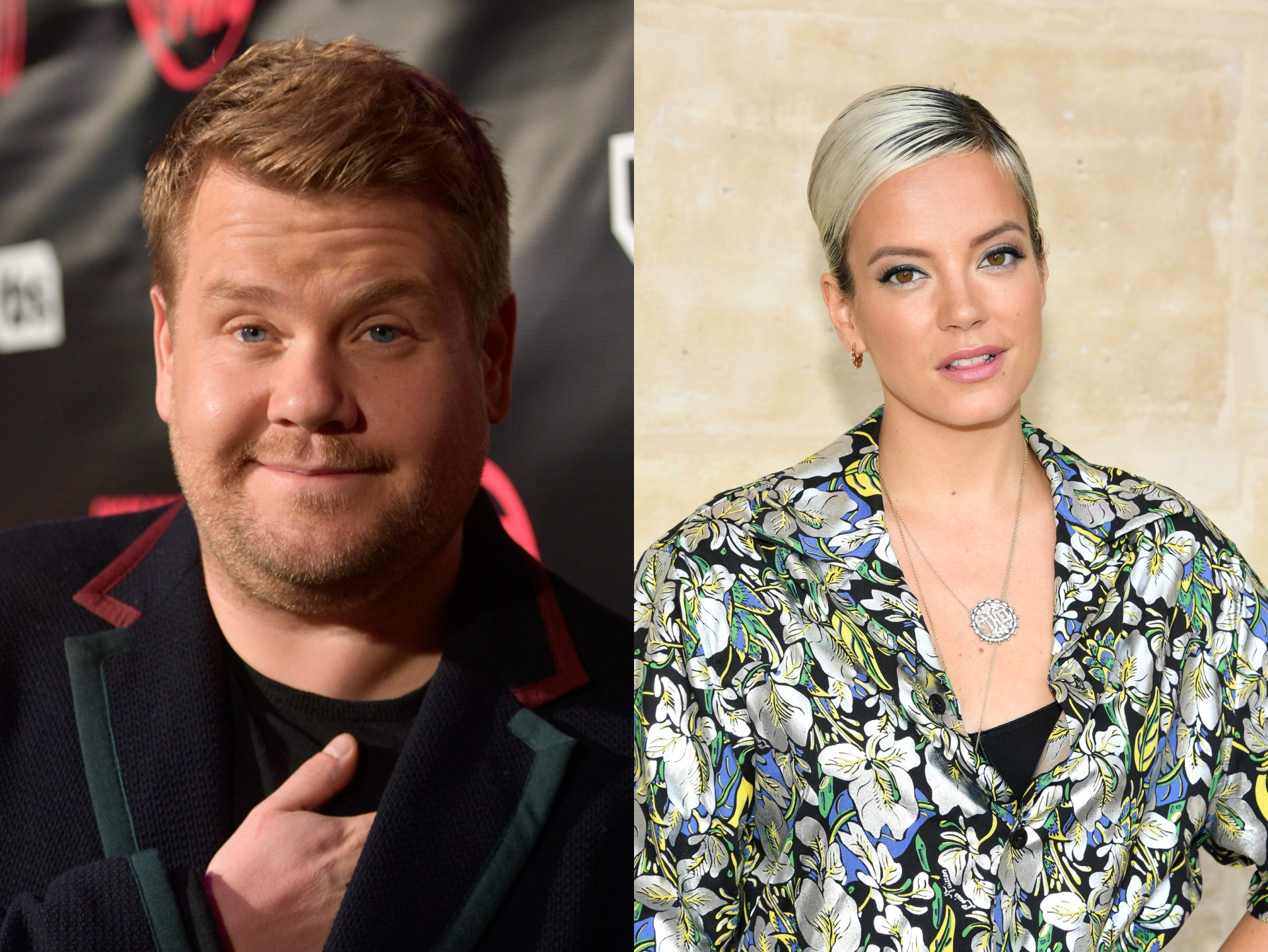 Lily Allen played along with James Corden during suggestive TV interview