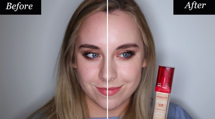 **Bourjois Healthy Mix Foundation** <br><br> **Best for: On a budget** <br><br> Bourjois' Healthy Mix foundation is a total dupe for the Shiseido one, it doesn't have *quite* the hydrating powers as it's pricier counterpart, but the glowy finish is very similar. It's packed with vitamins C, E and B5, that have been designed to give skin an instant 'anti-fatigue effect'. All of which means that even if you feel super tired and zombie-like, you certainly won't look it. This one's a total steal. <br><br> Bourjois Healthy Mix Foundation, $29, at [Priceline].