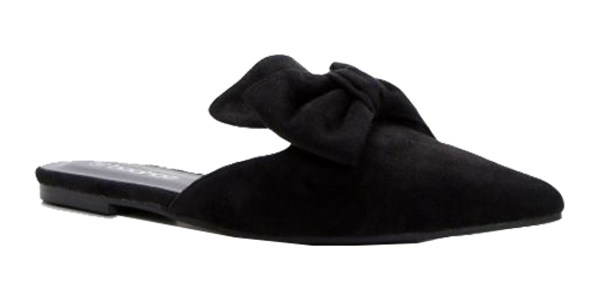 """Shoes, $32 at [Boohoo](http://au.boohoo.com/eliza-large-bow-trim-pointed-mule/DZZ39605.html target=""""_blank"""" rel=""""nofollow"""")"""