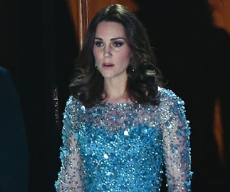 Pregnant Kate Middleton Just Channelled Princess Elsa in a jewel encrusted ice blue gown