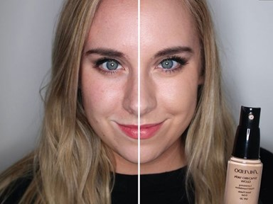 7 of the best foundations for dry skin, tested on half a face