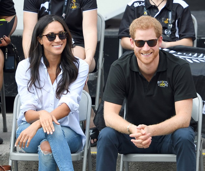 Prince Harry and Meghan Markle engaged.