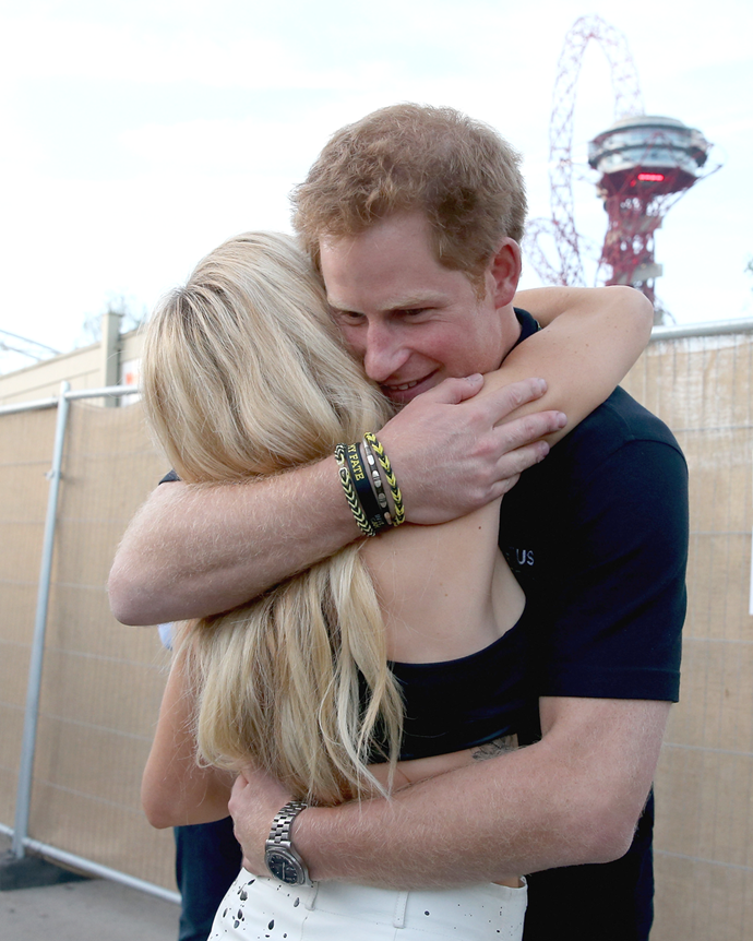 "**Ellie Goulding**  Prince Harry and Ellie Goulding were never official, but rumours about the pair [circulated](http://www.dailymail.co.uk/news/article-3630261/Prince-Harry-secretly-courting-Ellie-Goulding-pair-spotted-hugging-polo-event.html|target=""_blank""