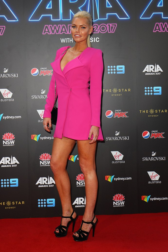 Sophie Monk at the 2017 ARIA Awards.