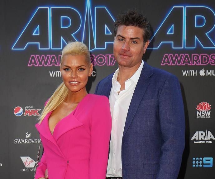 Sophie Monk and Stu Laundy 2017 ARIA Awards