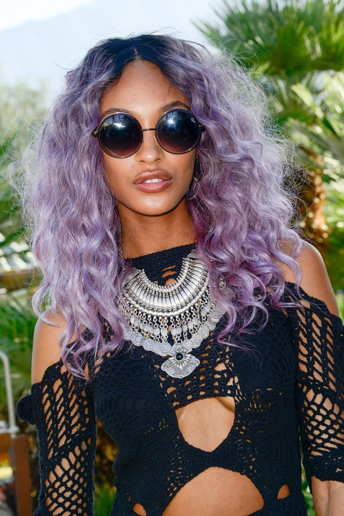 **Jourdan Dunn's lilac mane** <br><br> Who says candy-floss hair colours are just for festivals? Nuh-uh. Jourdan's lilac-tinted locks are cool enough to wear all year round.