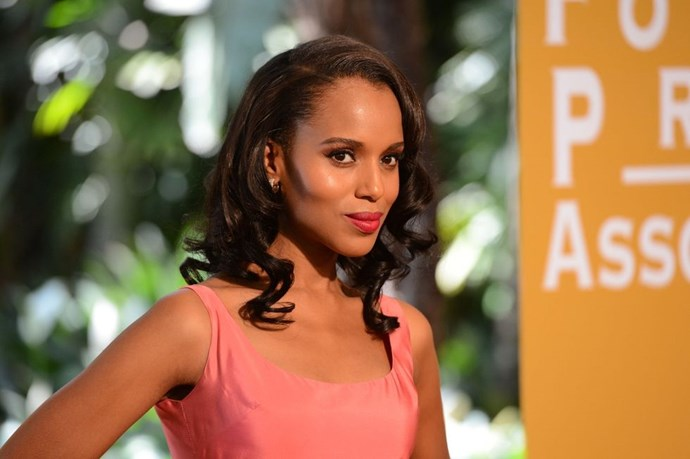 **Kerry Washington's polished curls** <br><br> Pretty, polished waves are always going to score style points. Keep your hair as smooth as possible with a styling pomade, then use a large barrel want to swirl the mid-lengths to ends.