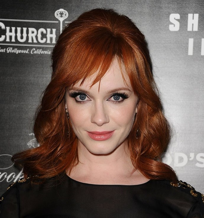 **Christina Hendricks' half-up 'do** <br><br> A half-up 'do is a classic style for a reason. Popular with the likes of Christina Hendricks and Kate Middleton (two women with impeccable taste), it's clearly a winner.
