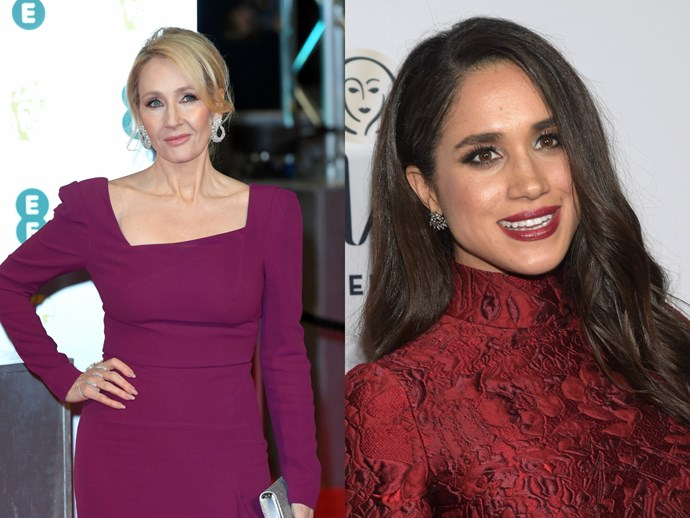 """J.K. Rowling burns royal commentator who labeled Meghan Markle """"unsuitable"""" for Harry"""