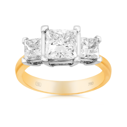 """18ct Yellow and White Gold Ring, $29,999 from [Hardy Brothers](https://www.hardybrothers.com.au/products/9DRT901A