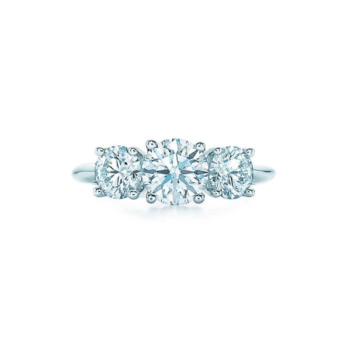 """Round Brilliant Three Stone, POA from [Tiffany & Co.](http://www.tiffany.com.au/engagement/rings/round-brilliant-three-stone