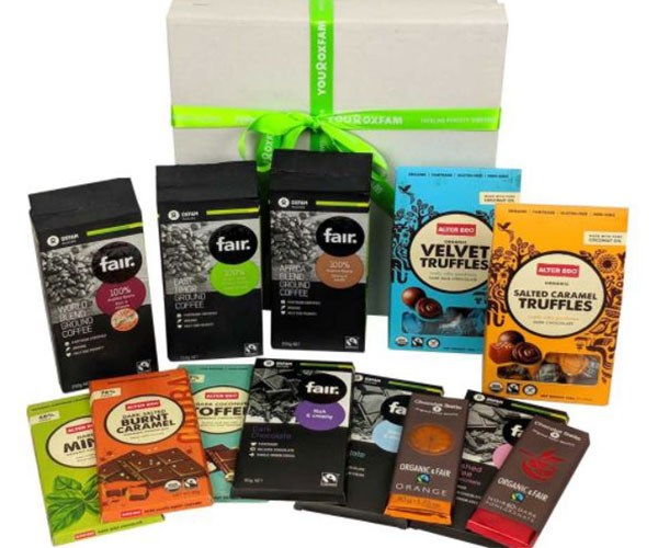 "**Deluxe Chocolate and Coffee Combo Hamper, $79.95 at [Oxfam](https://shop.oxfam.org.au/delux-chocolate-and-coffee-combo-hamper|target=""_blank"").**    TBH, we kind of want to keep this hamper — which is filled with fair trade chocolate and coffee — to ourselves… Gift this box of goodies to a mate and you'll also be supporting Oxfam and its projects."