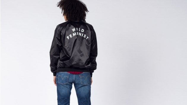 "Wild Feminist Bomber Jacket, $48 from [Wild Fang](http://www.wildfang.com/wild-feministtm-bomber.html|target=""_blank"")."