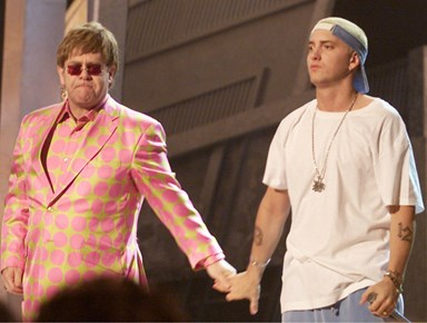 Apparently Eminem once bought Sir Elton John some very unusual diamond-encrusted sex toys