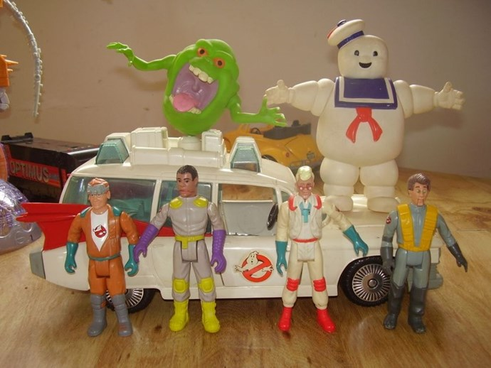**1988: Ghostbusters Toys**  Not sure we'd trust these guys against ghouls. They don't even have bendable elbows.