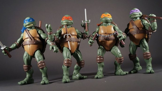 **1990: Teenage Mutant Ninja Turtles Toys**  Michaelangelo, Donatello, Leonardo, Raphael and their ratty pal Splinter sold 30 million worldwide.