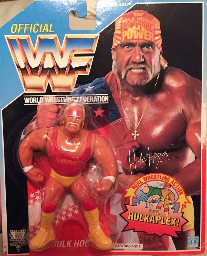 "**1992: WWF Action Figures**  As Hulk Hogan once said... ""Hulkamania is running wild, Brother."""