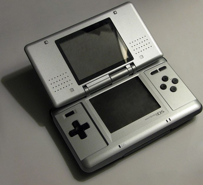 **2004: Nintendo DS**  What would happen if a Game Boy and a flip-phone had a baby.