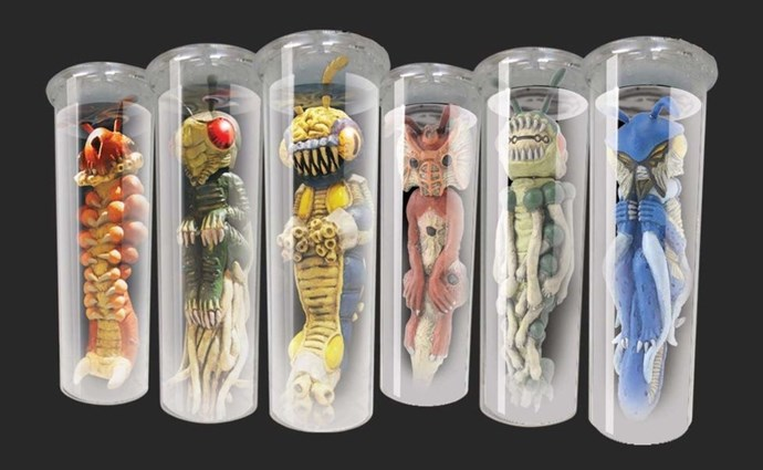 **2011: Electronic Test Tube Aliens**  These are like a modern version of those terrifying aliens that came in a slime-filled egg.