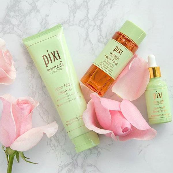 **Pixi**  Pixi is a beauty line of products that aims to give skin a naturally radiant look. Pixi is suited to all ages and skin types and has a philosophy of making products that are quick to use and versatile — so girls that are constantly on the go can indulge in a low-maintenance skincare routine.  <br><br> Hero product: Glow Tonic, $45, at Sephora.