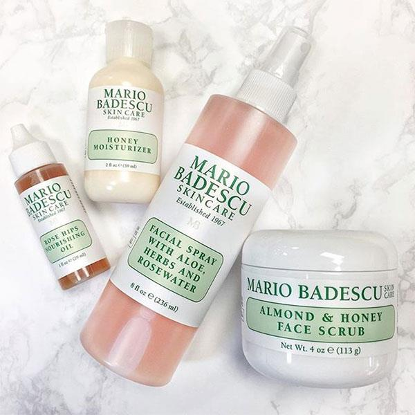 **Mario Badescu**  Mario Badescu is the brand behind the cult drying lotion celebrities such as Bella Hadid, Kylie Jenner and Lili Reinhart swear by. The brand's products contain the highest quality ingredients and botanicals, and offers various ways to combat problematic skin with products designed to create a flawless complexion.  <br><br> Hero product: Drying Lotion, $24. Mecca.