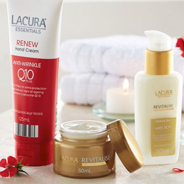 **Lacura**  Lacura is ALDI's exclusive affordable skincare range and has been compared to luxe brand La Prairie. Before you think twice, each product is dermatologically tested and range from $1 to $20 — they're also known for selling out super quick, so run into your closest Aldi store to give it a try.  <br><br> Hero product: Skin Science Renew Face Day Cream, $7, at Aldi.