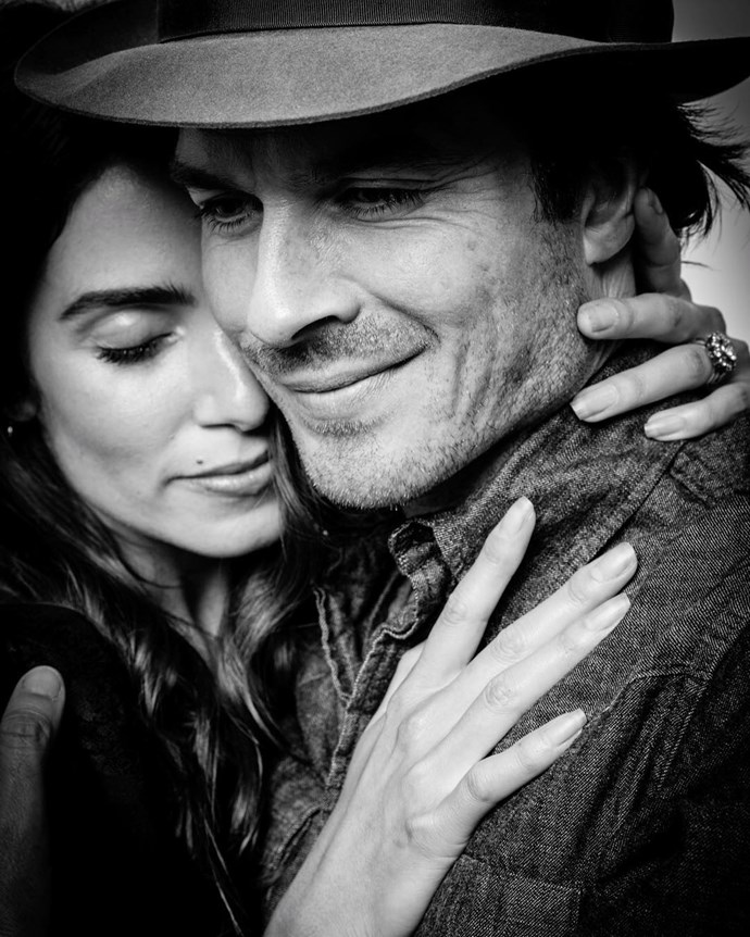 **Nikki Reed**  Nikki was previously married to Paul McDonald, but their divorce was finalised in January, 2015. According to reports, only two weeks after the marriage was legally over, Ian Somerhalder popped the question and Nikki said yes!