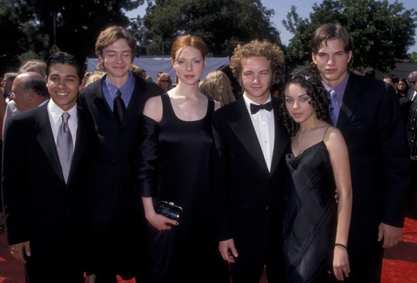 Here they are back in 1998 on the red carpet rocking some.... questionable... hairstyles.