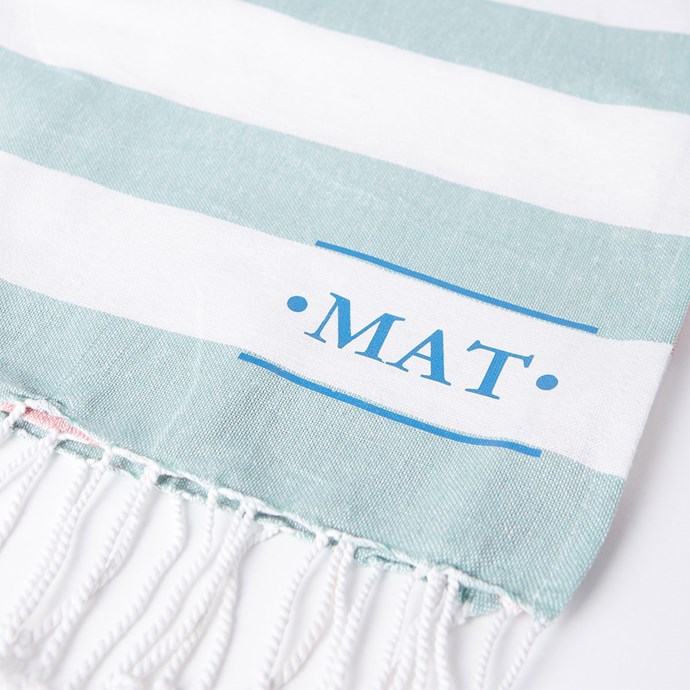 "**Personalised Tolve Turkish Towel, $19.95 at [Cotton On](https://cottonon.com/AU/personalised-tolve-turkish-towel/9352403114510.html|target=""_blank"").**  These cute AF personalised Turkish beach towels are available exclusively via the Cotton On website. Seeing as they're so affordable, it'd be wrong not to buy ourselves one too - *right?*"