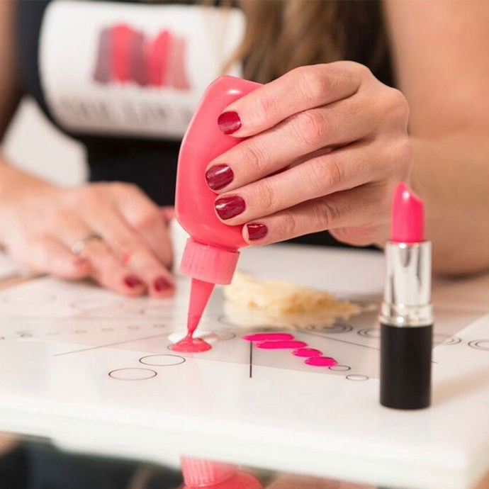 """**Customised Lipstick, $65 at [The Lip Lab](http://www.theliplab.com.au/#pricelist target=""""_blank"""").**  Have you spent the bulk of your life in pursuit of the *perfect* shade of red lipstick? Same - and your friends probably have too. Take your mate to The Lip Lab and they'll create a shade of lipstick that's just right. Click [here](http://www.theliplab.com.au/#locations target=""""_blank"""") for a full list of The Lip Lab locations."""