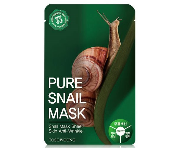 "**Tosowoong Pure Snail Mask, $20 at [Amazon](https://www.amazon.com.au/Tosowoong-Masksheet-Essence-Blueberry-Propolis/dp/B00K6XVYP6/ref=sr_1_fkmr0_2?s=beauty&ie=UTF8&qid=1512528145&sr=1-2-fkmr0&keywords=Mothermade+Snail+Masks|target=""_blank"").**   Snail slime is *the* ingredient of 2017, people! The Tosowoong Pure Snail Mask is infused with concentrated snail slime filtrate to plump and moisturise skin, while correcting uneven skin tone and acne scarring."