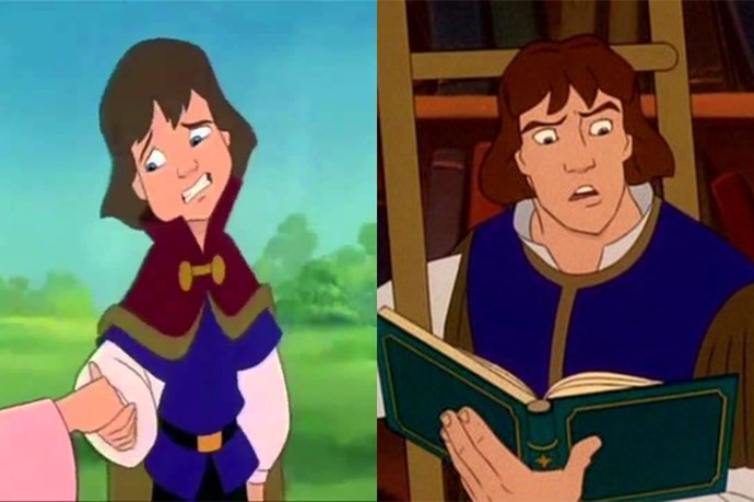 **Prince Derek from *The Swan Princess*** <br><br> Not much changed about Prince Derek as he grew up. He wore most of the same clothes and kept the same blunt, squarish haircut. He should have changed the hair, IMO.