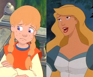 Odette growing up in The Swan Princess
