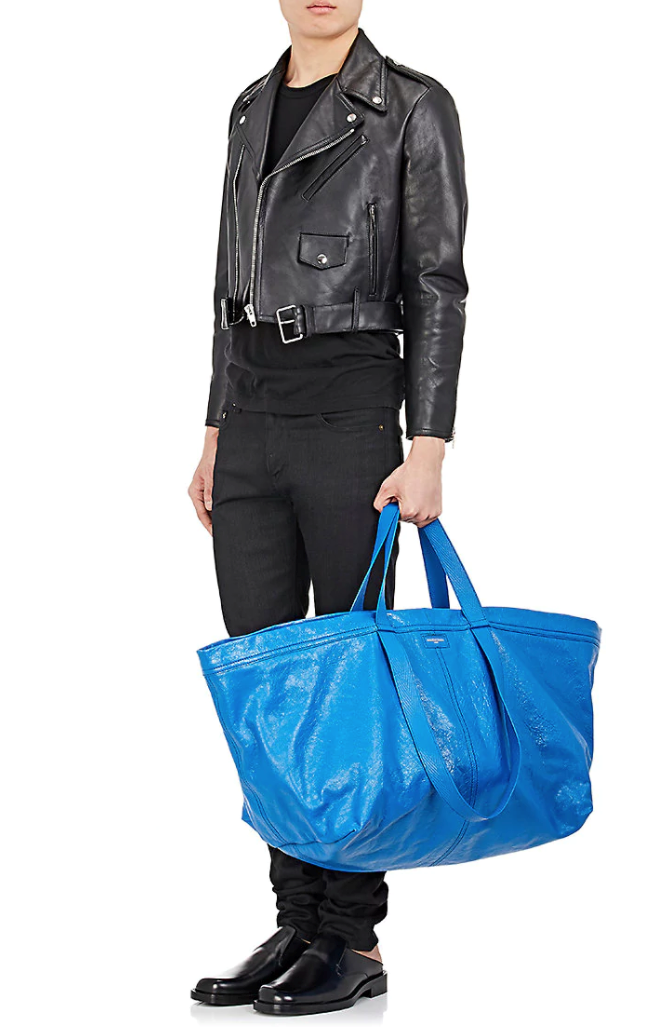 **Balenciaga's IKEA Bag** <br><br> The Balenciaga bag that sparked a thousand tweets first appeared in the brand's spring summer '17 menswear runway in July 2016, but it didn't go viral until April. This spin on the iconic blue 99-cent IKEA tote could be yours for only $2,600! Almost as funny as the tote itself was IKEA's epic response.