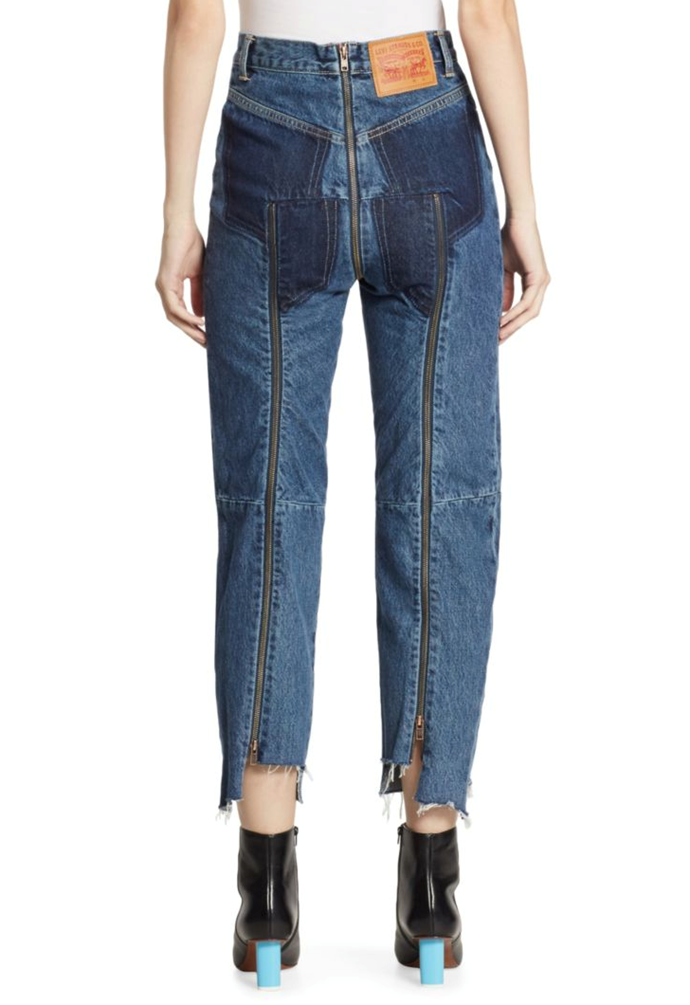 **Vetements' Zipper Butt Jeans** <br><br> In April, Vetements teased its collab with Levi's and came up with these pants just perfect for mooning!!! And that's all, folks.