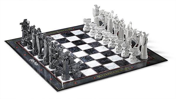 "Harry Potter Wizard Chess Set, $48.99 from [Think Geek](http://www.thinkgeek.com/product/jlqk/?cpg=cj&ref=&CJURL=&AID=13074601&SID=30283X879131X3a4f0656bbc116ad0c07984c30492f06&utm_source=cj&utm_medium=affiliates&utm_campaign=affiliates&PID=5699550&CJID=2617611|Target=""_blank"")."