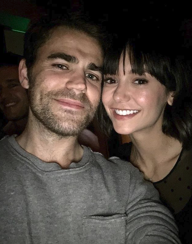 "**The Vampire Diaries**  Paul Wesley (Stefan) and Nina Dobrev (Elena) from the * The Vampire Diaries* reunited over the weekend in New York. Nina captioned this pic on Instagram as ""NYC when it's snowing is full of serendipitous run ins and magical reunions. Like this one."" It did look pretty magical, to be honest."