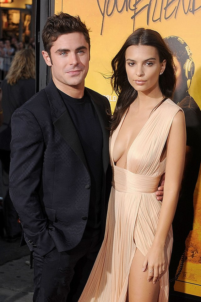 **Emily Ratajkowski** <br><br> Even though Emily has been dating her boyfriend Jeff Magid for years, that didn't stop fans from speculating that she and Zac were hooking up after working together on the 2015 movie *We Are Your Friends*.